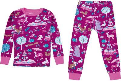 Пижама Hatley для девочки - бордовый