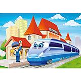 Пазл На вокзале, 40 деталей MAXI Castor Land