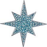 Украшение Зимняя звезда 12,5 см
