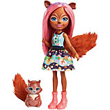 Кукла Enchantimals со зверюшкой - Санча Бельчитта