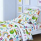 Детское постельное белье 3 предмета Letto, простыня на резинке, BGR-49