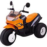 """Трехколесный мотоцикл Пламенный мотор """"Спейс"""" 103 см, оранжевый,  2*6 В"""