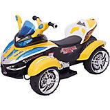 Электроквадроцикл Bugati, желтый (свет, звук)