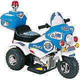 "Электромотоцикл Bugati ""Police"" с мигалкой, бело-голубой (свет, звук)"