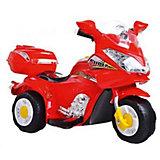"Электромотоцикл Bugati ""Super"", красный (свет, звук)"