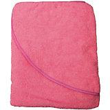 Махровое полотенце с уголком Baby Swimmer 100х100, розовое