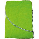 Махровое полотенце с уголком Baby Swimmer 100х100, салатовое