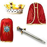"""Набор """"Благородный рыцарь"""" (Красный), Lion Touch (Меч,Плащ,Корона)"""
