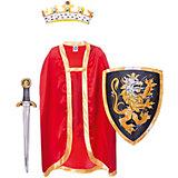 """Набор """"Благородный рыцарь"""" (Красный), Lion Touch (Щит,Меч,Плащ,Корона)"""