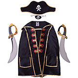 "Набор пирата ""Капитан Кросс"", Lion Touch (Плащ,Повязка,Шляпа,Сабля-2шт.)"