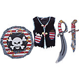 Набор для пирата, Lion Touch (Жилет,Щит,Сабля,Нож,Крюк)