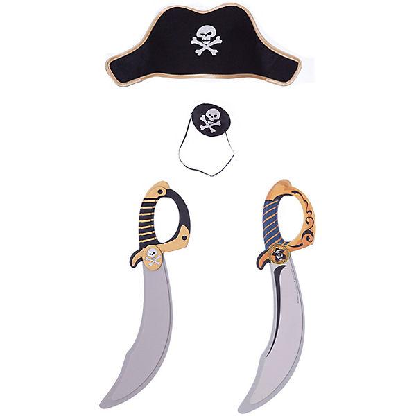 "Набор пирата ""Капитан Кросс"", Lion Touch (Повязка,Шляпа,Сабля-2шт.)"