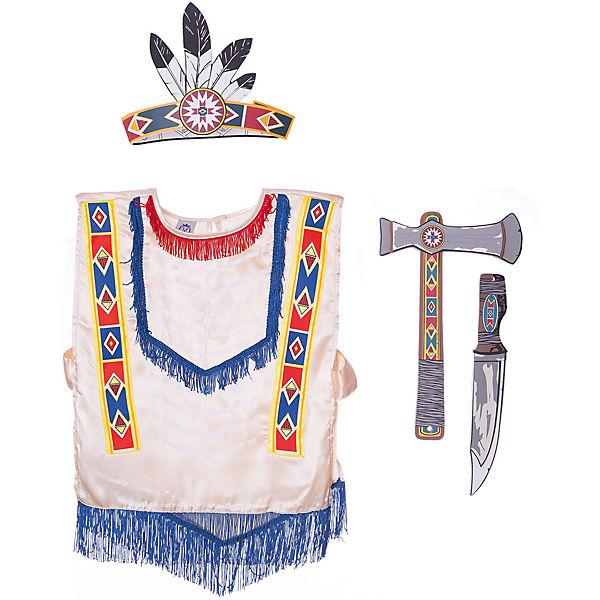 "Набор ""Индейцы Навахо"", Lion Touch (Пончо,Повязка,Нож,Топорик)"
