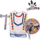 """Набор """"Индейцы Навахо"""", Lion Touch (Пончо,Щит,Повязка,Нож,Топорик)"""