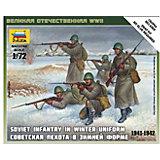 Сборная модель  Советская пехота 1941-43гг. (зима)