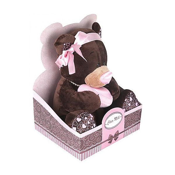 Мягкая игрушка Orange Медведь Milk с сердцем, 20 см (девочка)