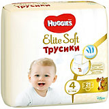 Трусики-подгузники Huggies Elite Soft L (4), 9-14 кг., 21 шт.