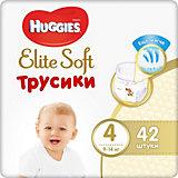 Трусики-подгузники Huggies Elite Soft L (4), 9-14 кг., 42 шт.