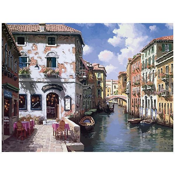 """Раскраска по номерам Белоснежка """"Венецианские дома"""", 40х50 см"""