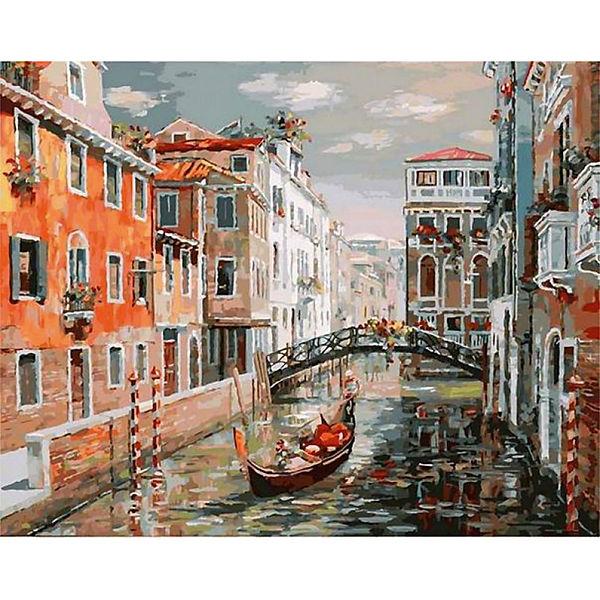 "Раскраска по номерам Белоснежка ""Венеция. Канал Сан Джованни Латерано"", 40х50 см"
