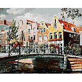 """Раскраска по номерам Белоснежка """"Амстердам. Мост через канал"""", 40х50 см"""