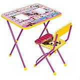 """Комплект мебели Nika Kids """"Маша и Медведь"""" Азбука 3 (мягкое сиденье)"""