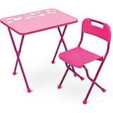 "Комплект мебели Nika Kids ""Алина"", розовый"