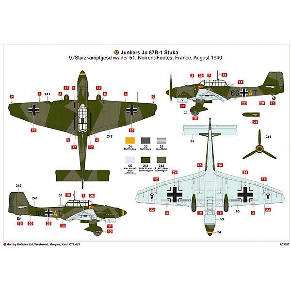 """Сборная модель Airfix """"Самолет Junkers Ju87 B-1 Stuka"""" 1:72"""