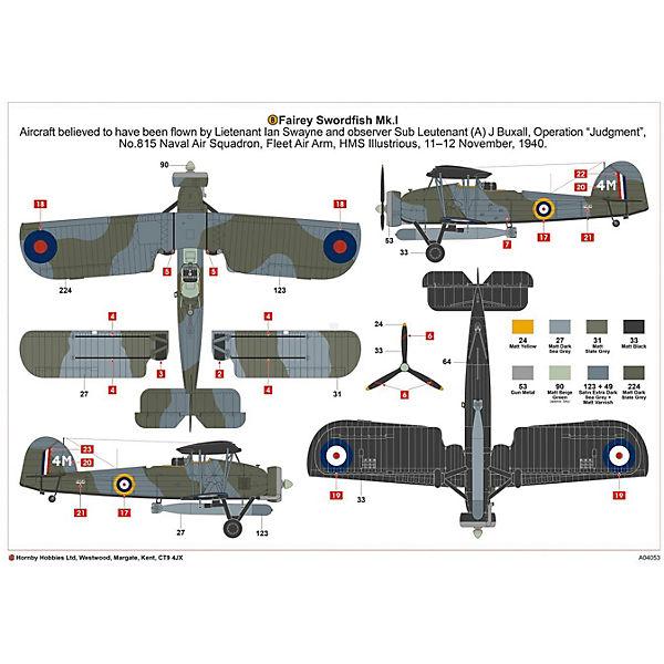 """Сборная модель Airfix """"Бомбардировщк Fairey Swordfish Mk.I"""" 1:72"""