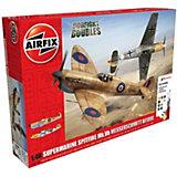 """Подарочный набор  """"Самолеты Supermarine Spitfire против Messerschmitt"""" 1:48"""