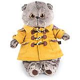 Мягкая игрушка Budi Basa Кот в дафлкоте, 19 см