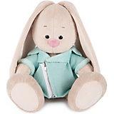Мягкая игрушка Budi Basa Зайка Ми в голубой меховой курточке, 18 см