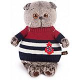 Мягкая игрушка Budi Basa Кот Басик в морском свитере, 22 см