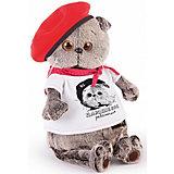 Мягкая игрушка Budi Basa Кот Басик с принтом Плюшевая революция, 22 см