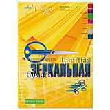 Набор цветной бумаги № 12 Альт А4, 7 листов (зеркальная)