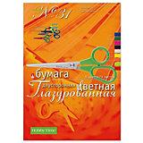 Набор цветной бумаги № 31 Альт А4, 9 листов (двухсторонняя, глазурированная)