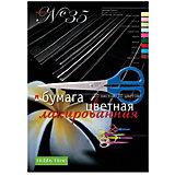Набор цветной бумаги № 35 Альт А4, 10 листов (лакированная)