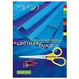 Набор цветной бумаги № 40 Альт А4, 10 листов