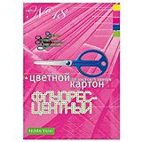 Набор цветного картона № 18 Альт А4, 10 листов (флуорисцентный)