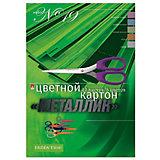 Набор цветного картона № 19 Альт А4, 10 листов (металлик)
