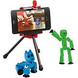 """Игровой набор Zing """"Stikbot"""" Студия с питомцем, Человечек с голубой собакой"""