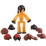 Фигурка с аксессуарами Прически, Stikbot, коричневые