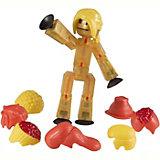Фигурка с аксессуарами Прически, Stikbot, желтые