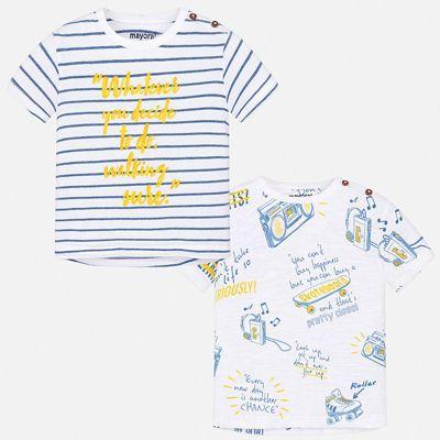 Комплект:2 футболки Mayoral для мальчика - синий
