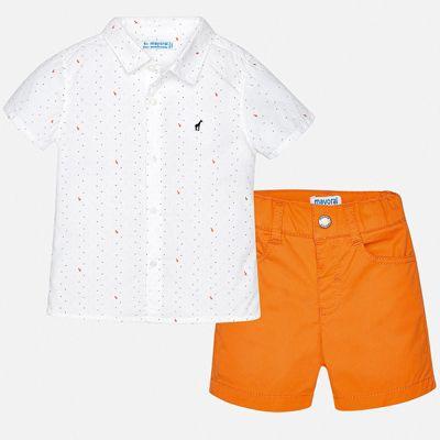 Комплект:шорты,футболка Mayoral для мальчика - оранжевый