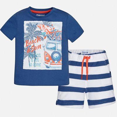 Комплект:Футболка ,шорты Mayoral для мальчика - синий
