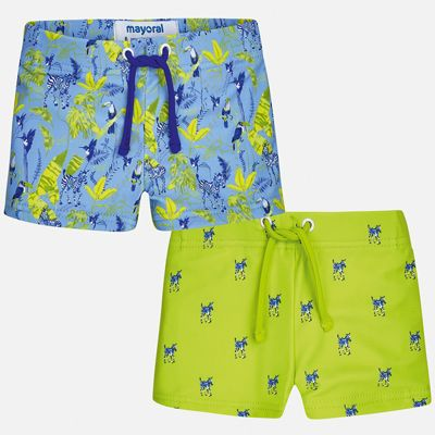Комплект:2 пары купальных плавок Mayoral для мальчика - зеленый