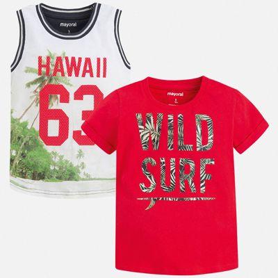 Комплект:футболка,майка Mayoral для мальчика - бордовый