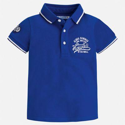 Футболка-поло Mayoral для мальчика - синий
