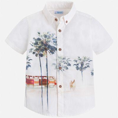 Рубашка Mayoral для мальчика - бежевый